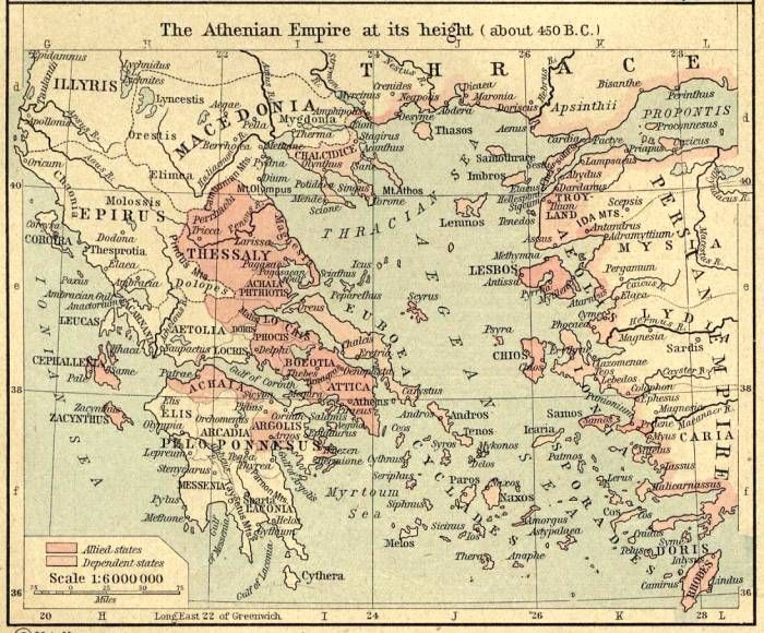 The Athenian Empire at its height, about 450 BC | Ancient ... on marshall map, lafayette map, lipscomb map, mercer map, austin peay map, xavier map,