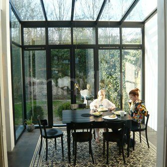 serre staal en glas google zoeken serre pinterest serre v randas et verri re. Black Bedroom Furniture Sets. Home Design Ideas