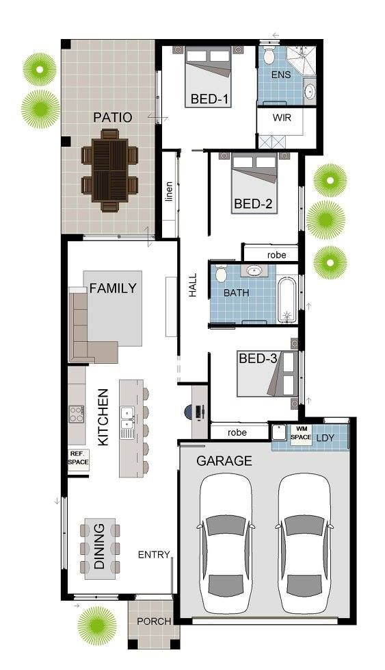 3 Bedroom House In Bushland Grove Happy Hand Over Day Grady Homes House Plans Australia Bungalow Floor Plans Narrow House Plans