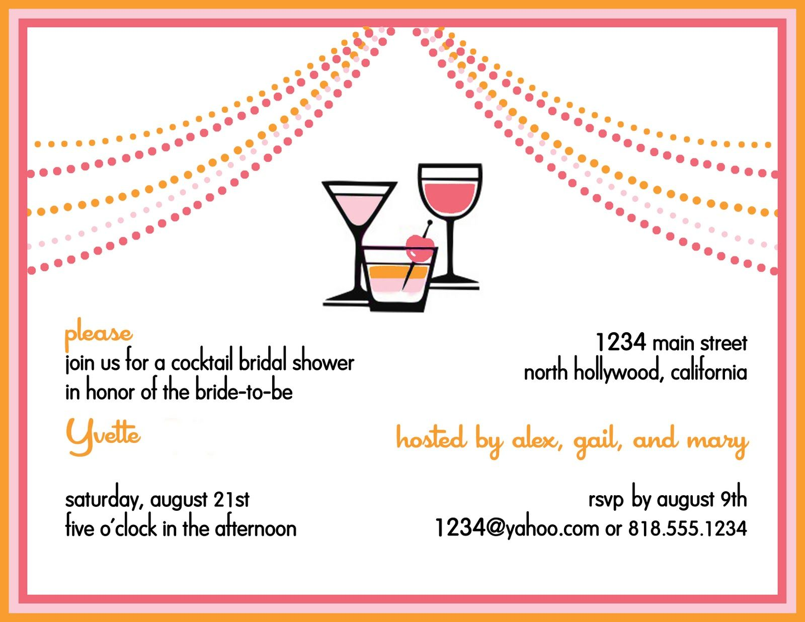 Informal Cocktail Party Invitation Wording Etiquette Features – Passion Party Invitation Wording