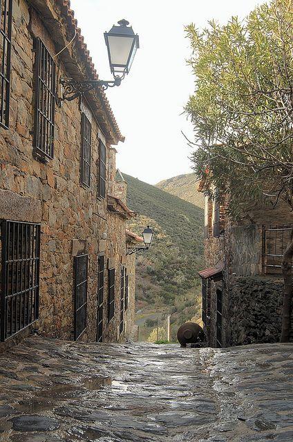 Medieval town Patones de Arriba, near Madrid, Spain