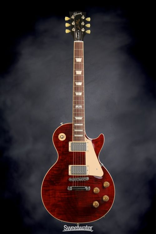 Gibson Les Paul Standard 50s Aaa Top Electric Guitar Iced Tea Sweetwater Exclusive Electric Guitar Guitar Gibson Les Paul