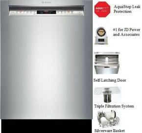 Bosch She68t55uc Integrated Dishwasher Dishwasher Built In Dishwasher