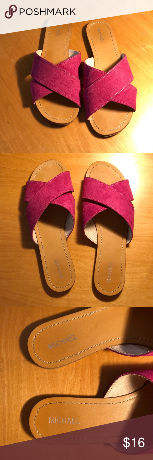 9f9a482166c8fc MICHAEL patsy sandals Good used condition. Size 9. A gorgeous sandal!  Lovely fuchsia