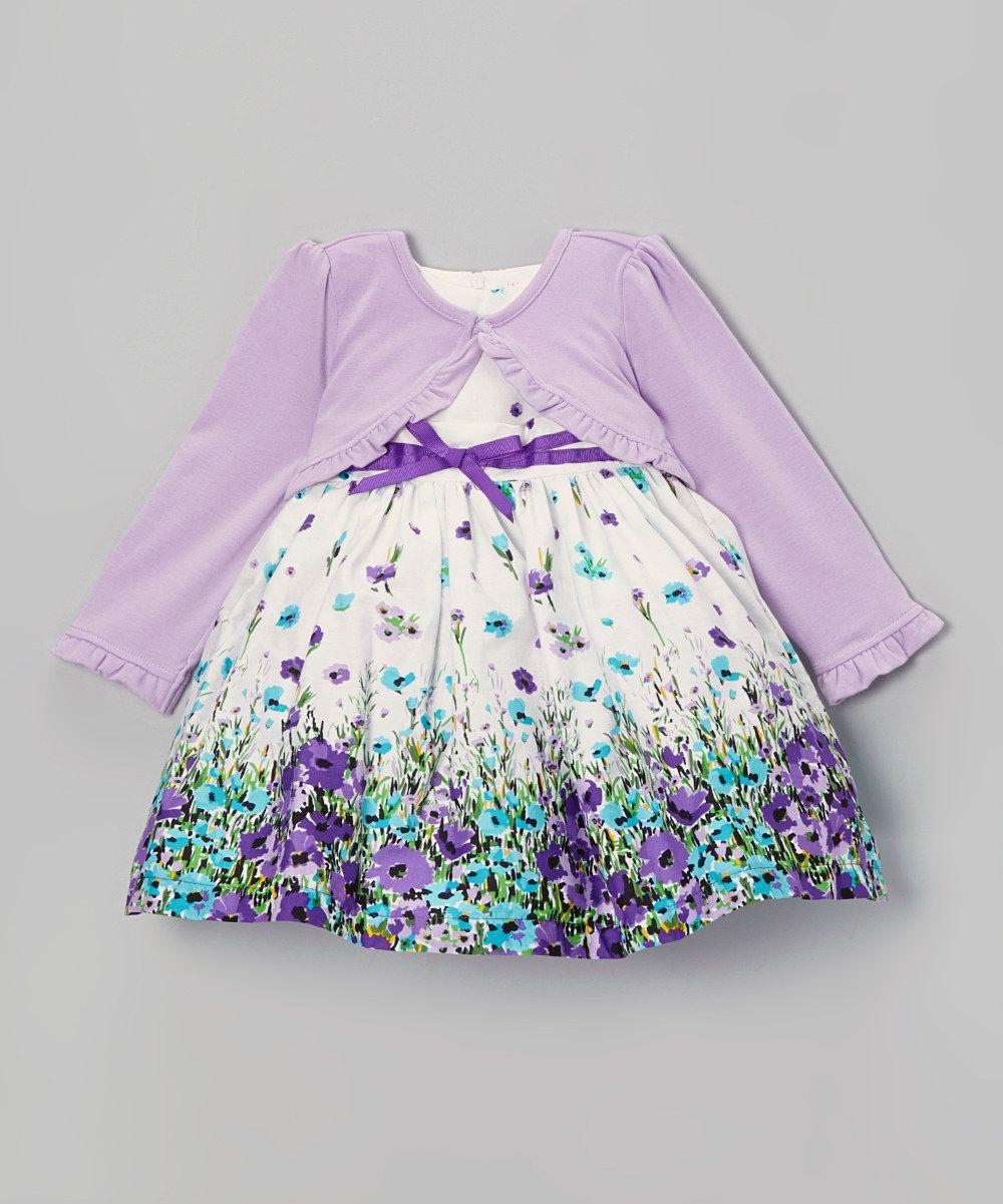 5c4115a3ea78 Look at this  zulilyfind! Nannette Beige Floral Dress   Purple ...