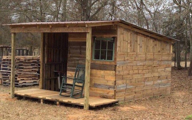 20 Diy Pallet Shelter Designs That Will Have You Living Large Pallet Building Pallet House Pallet Shed