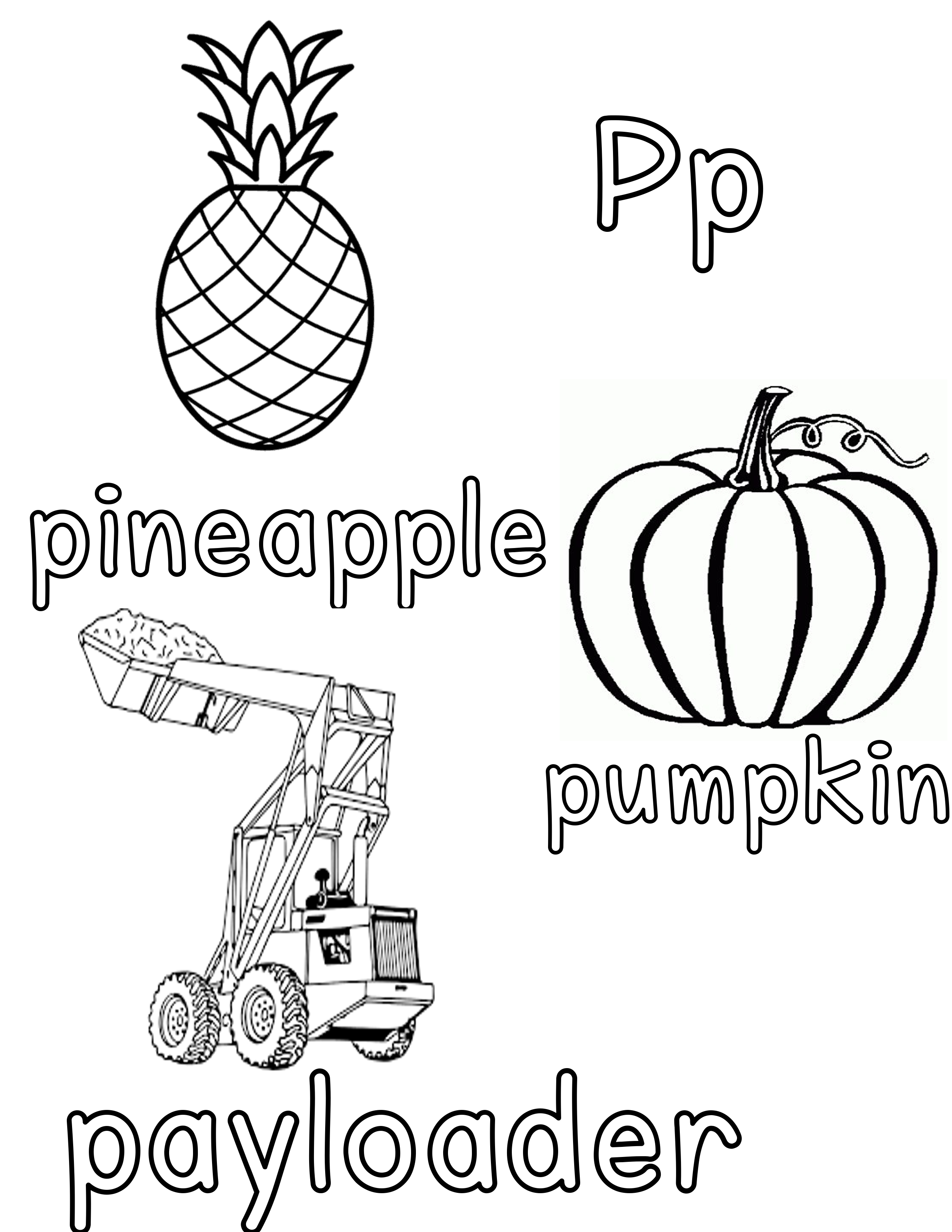 Phonetic Pp Coloring Sheet