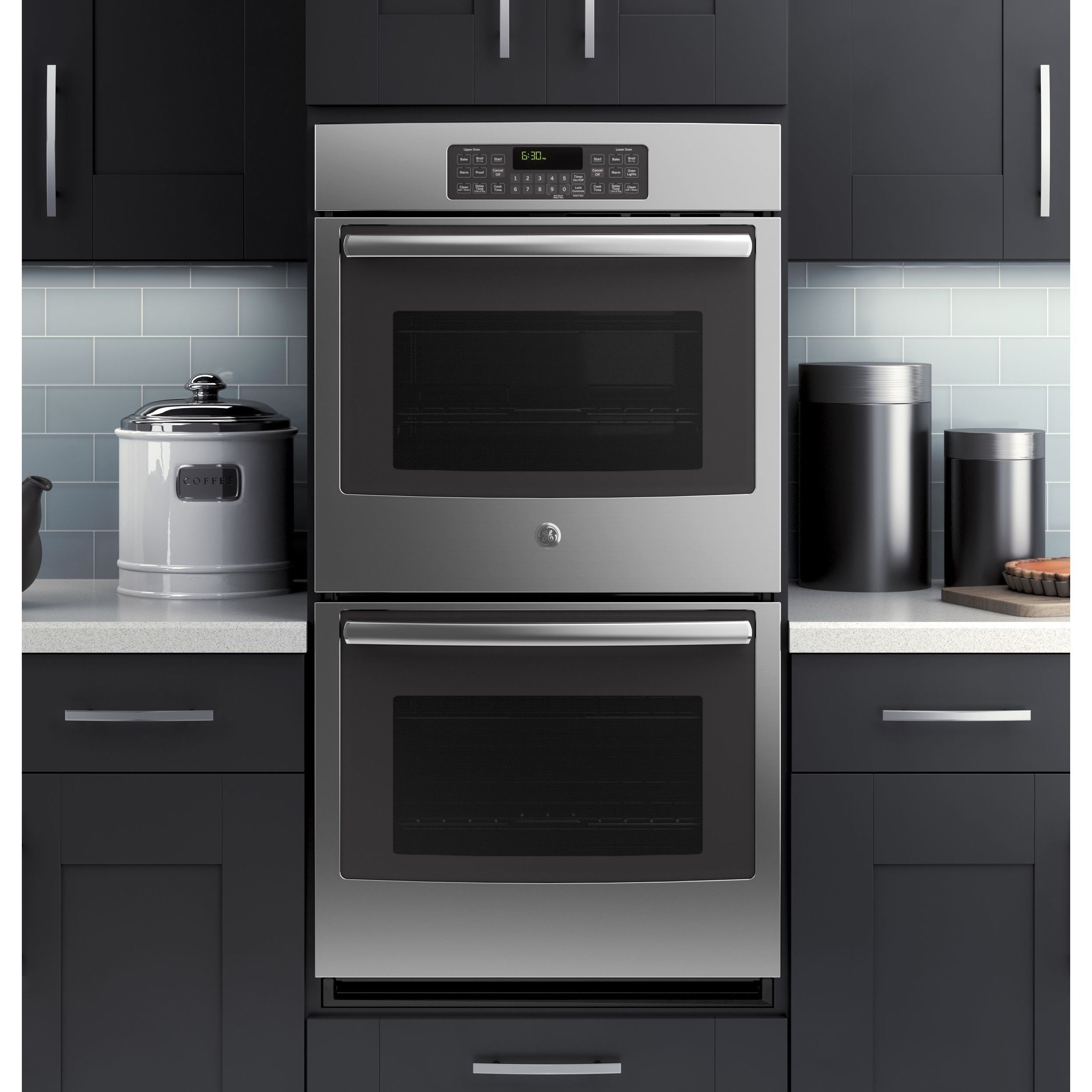Ge 27 Inch Stainless Steel Silver Built In Double Wall Oven