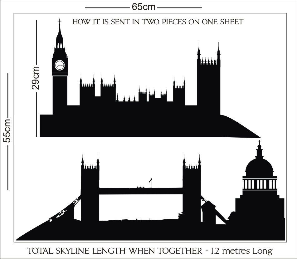 Old London Skyline Peter Pan Vinyl Wall Decal Sticker 19