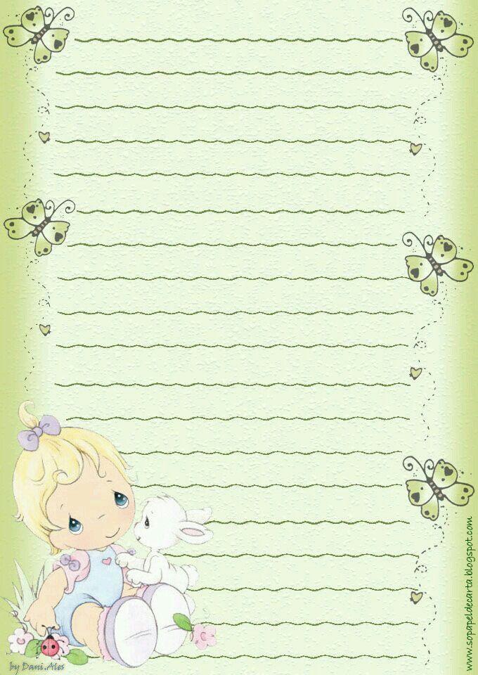 papel de carta Free printable stationery Pinterest Stationary