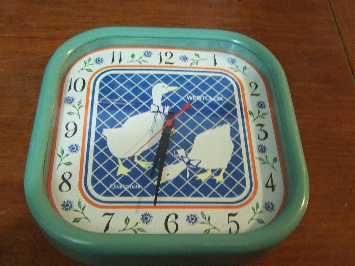 precioso reloj antiguo westclox para cocina
