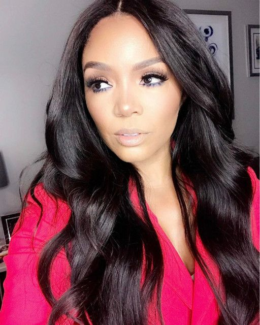 Middle Part Long Wavy Hairstyles African American Wigs Remy Human Hair Wigs Wig Hairstyles Human Hair Wigs