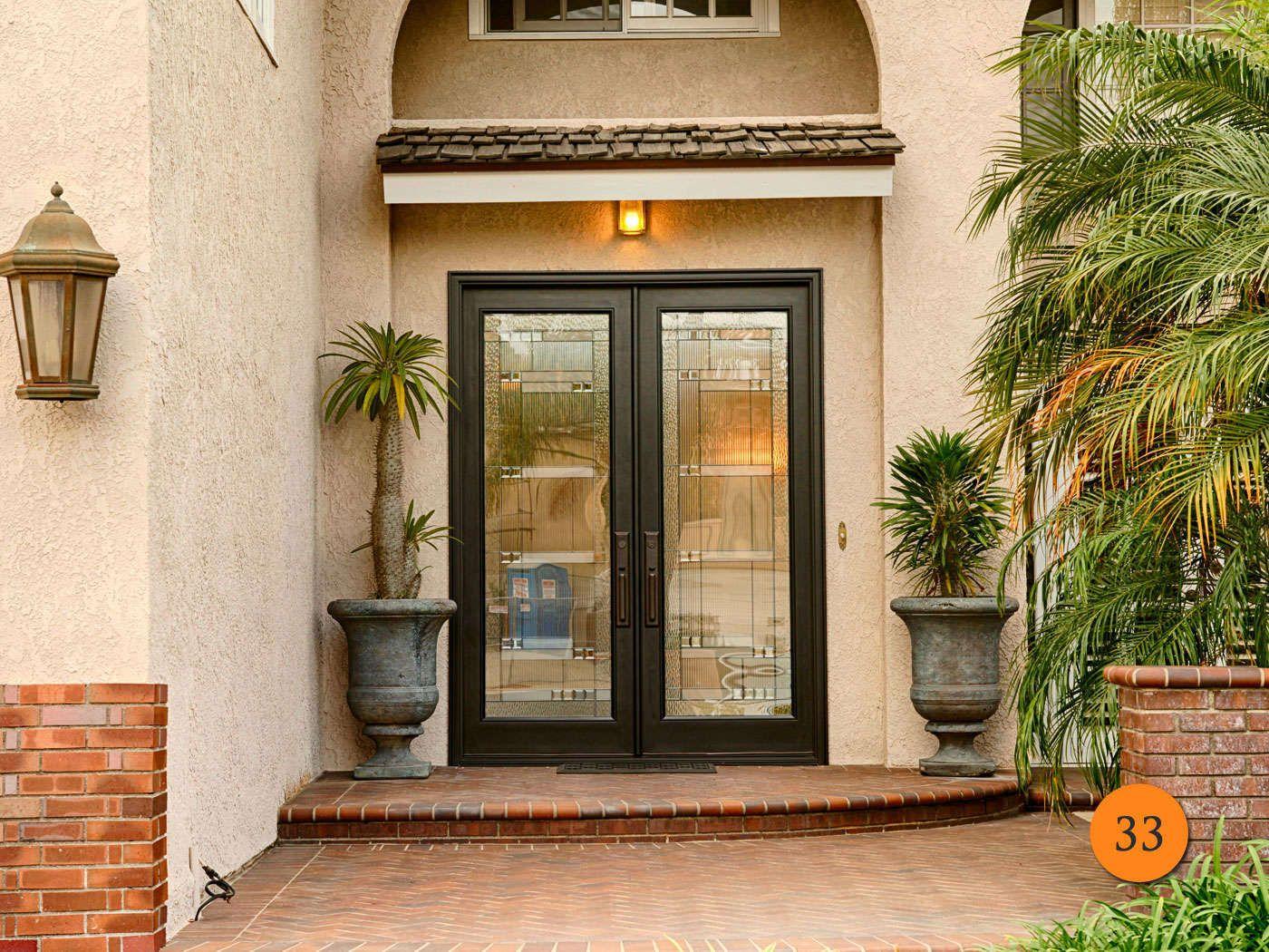 Custom Built Classic Style Fiberglass Double Entry Doors Plastpro