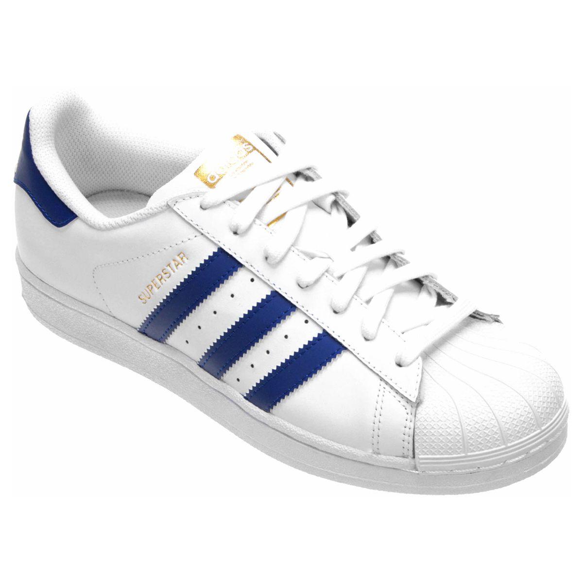1ff29d528c3 Tênis Adidas Superstar Foundation Branco e Preto