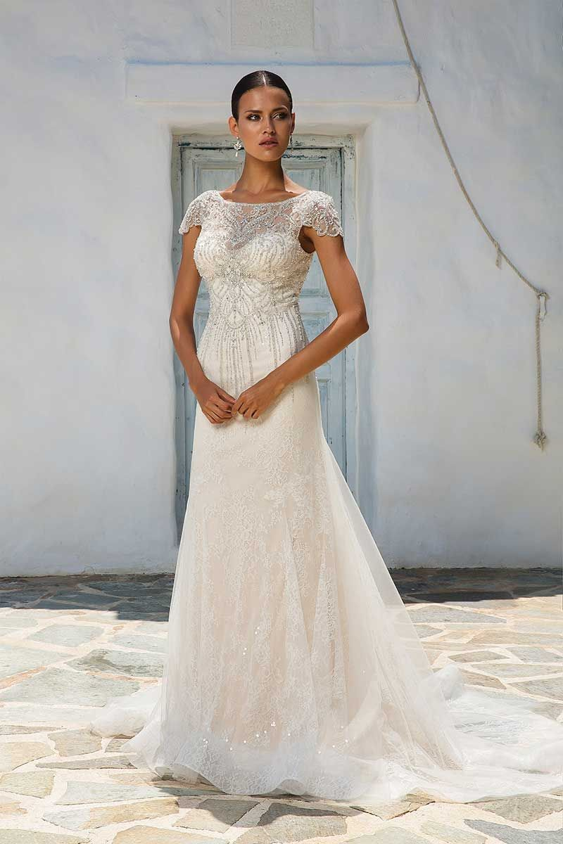 ba7ab5c0b306 Justin Alexander 8958 bridal gown. Justin Alexander 8958 Bridal Gown  Allover Beaded Tulle Fit and Flare Gown with Cap Sleeves Justin Alexander  8958 Bridal ...