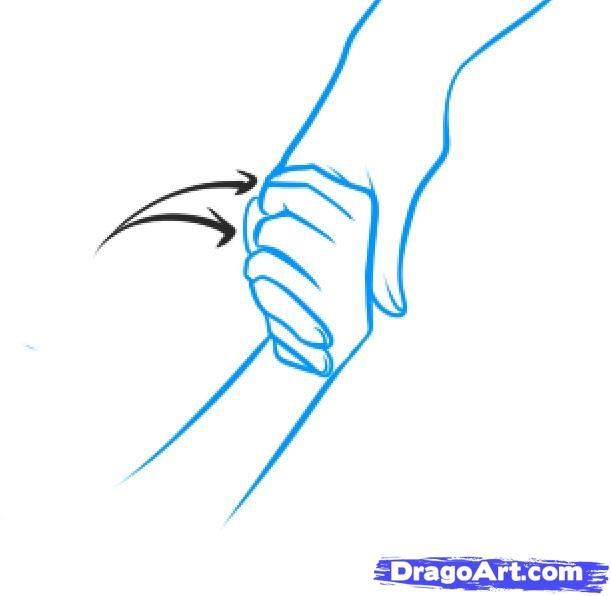 how to draw hands easy step by step