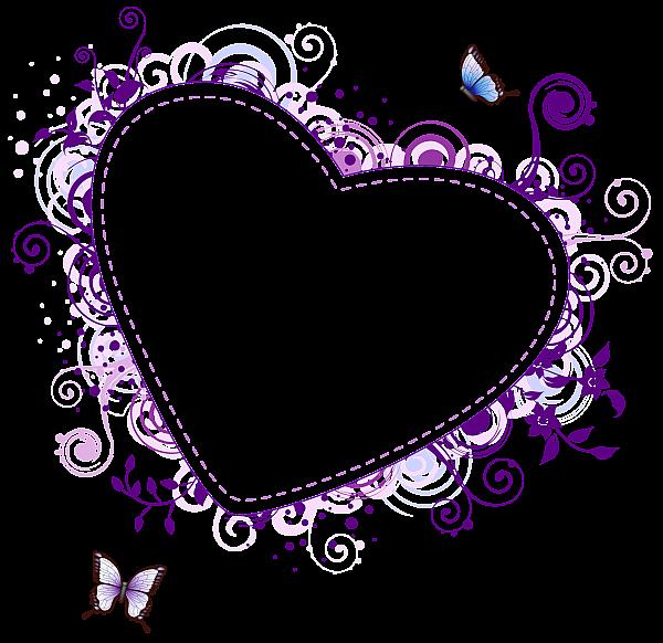 Purple Heart Transparent Frame Heart Clip Art Clip Art Freebies Pink Heart