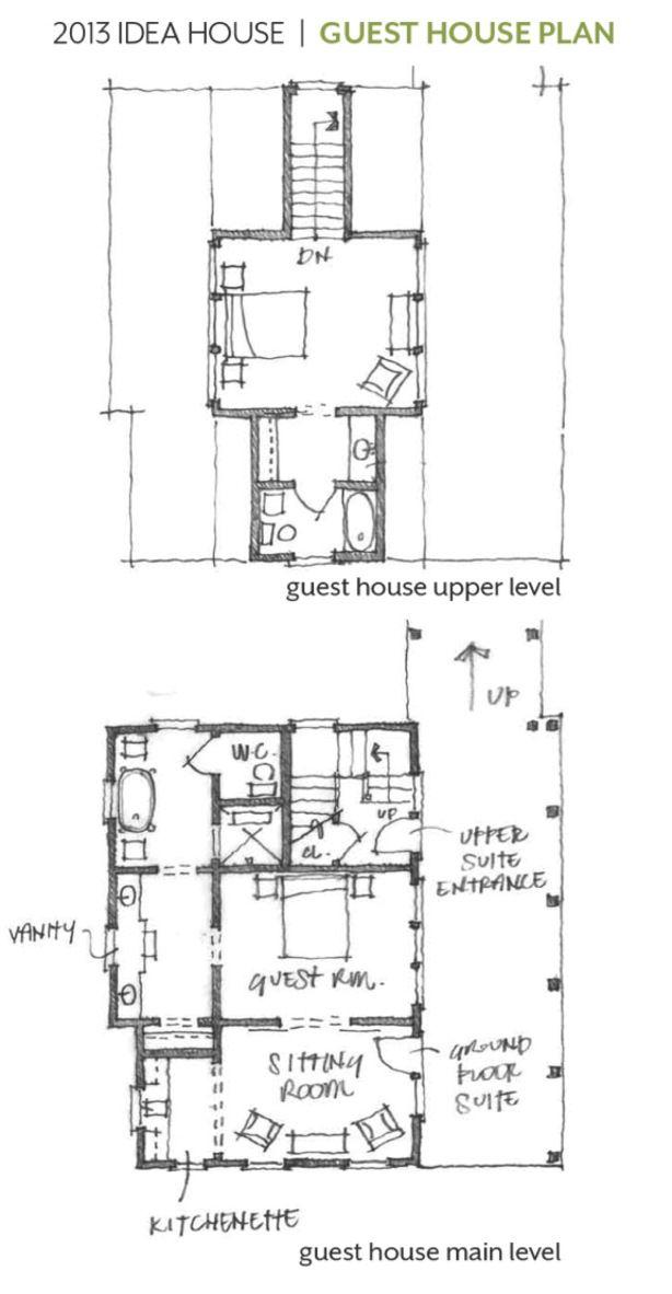 Guest house floor plan @Sharon Macdonald murphy Living idea house