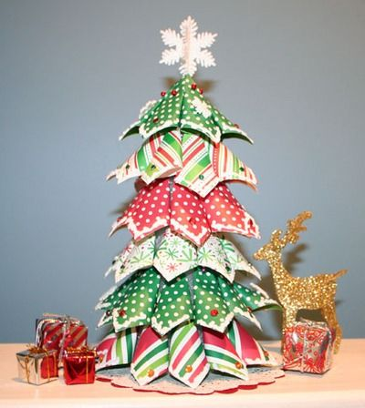Manualidades Arbol Navidad Hecho Con Papel De Regalo Shared Via - Manualidad-arbol-navidad
