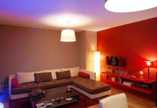 Décoration Murale Intérieur En Couleur Rouge Couleur Pour Mur Salon