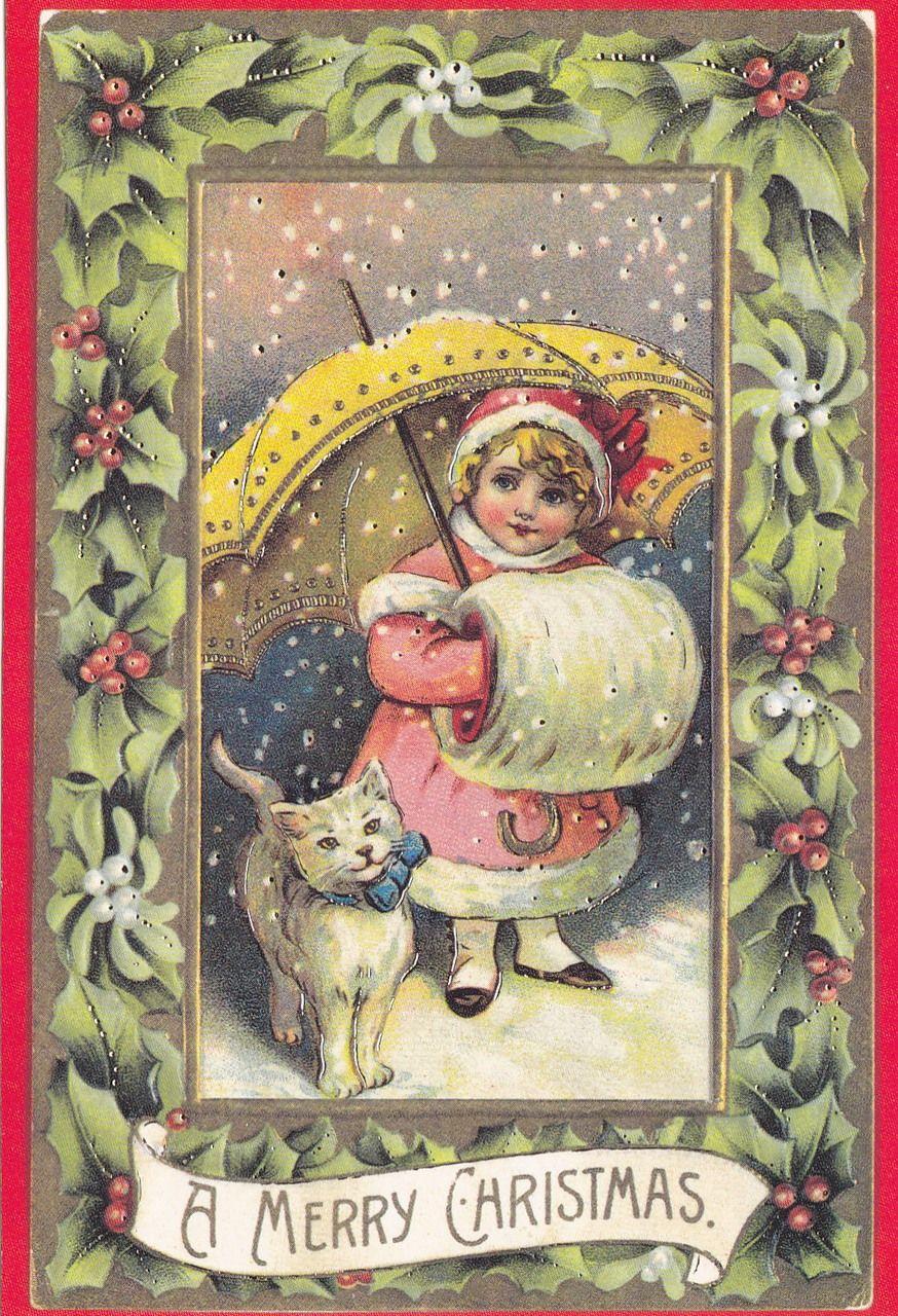 старые немецкие открытки с рождеством