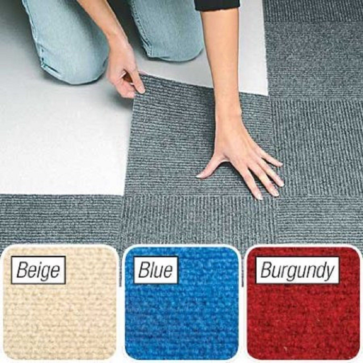 Peel And Stick Blue Berber Carpet Tiles 12 X12 Set Of 10 Carpet Tiles Berber Carpet Rugs On Carpet