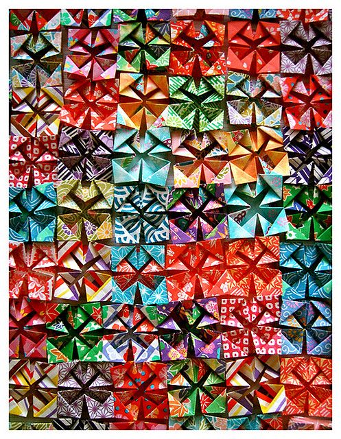 Quilting-like origami