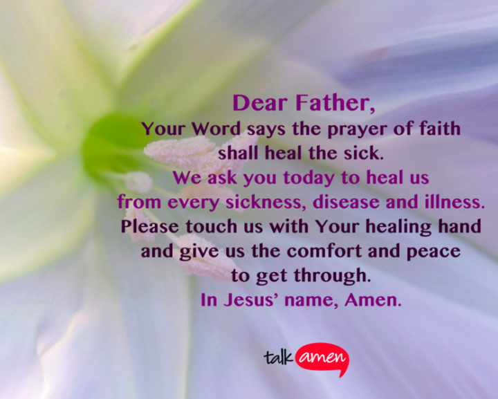 Prayer for the Sick Talk Amen Inspiring quotes