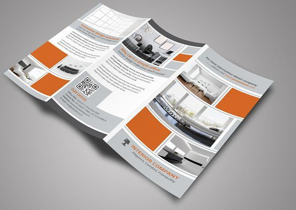 Interior Trifold Brochure By Creative Designer On Creativemarket - Online brochures templates