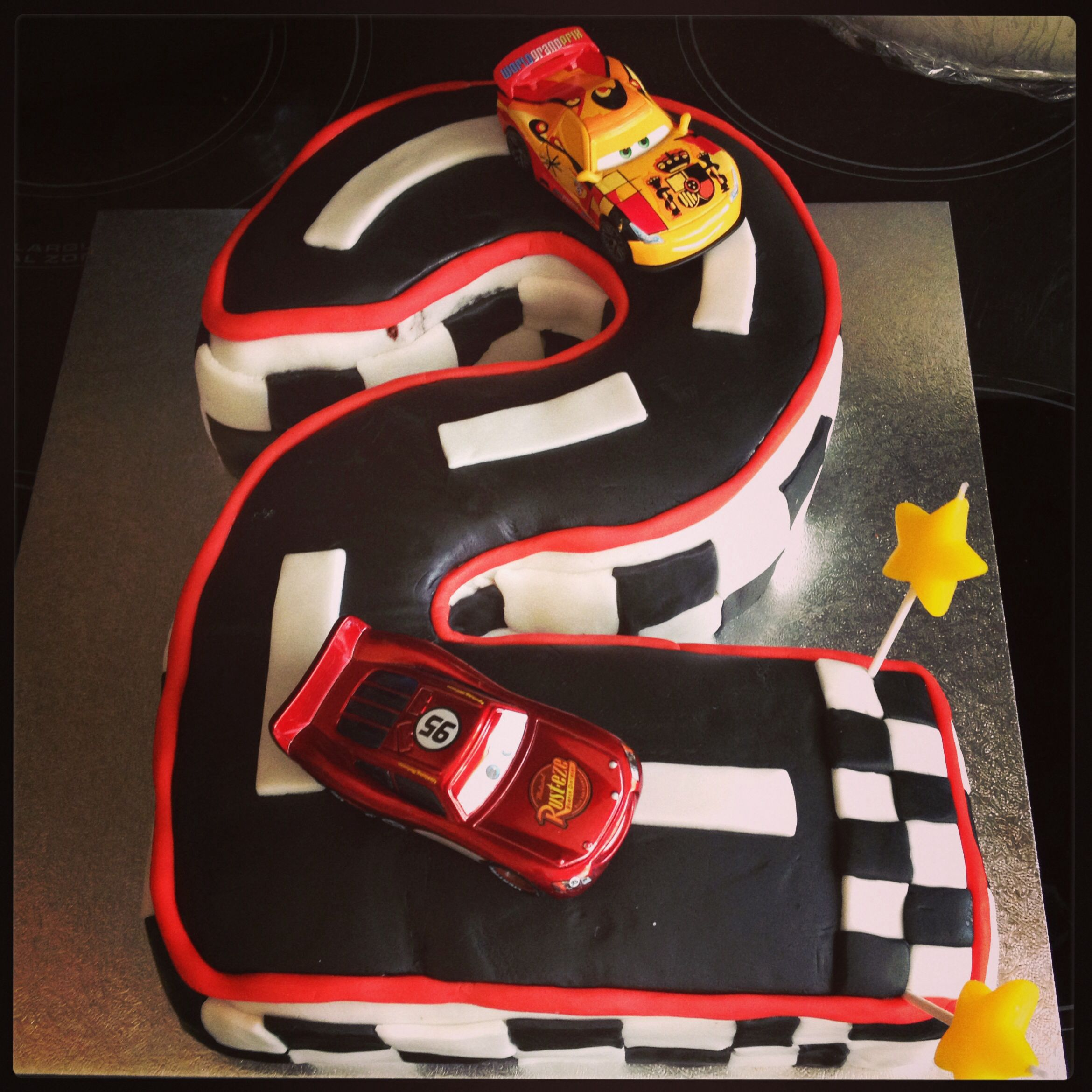 Disney Cars Number  Birthday Cake Liams Rd Birthday Party - Birthday cake cars 2