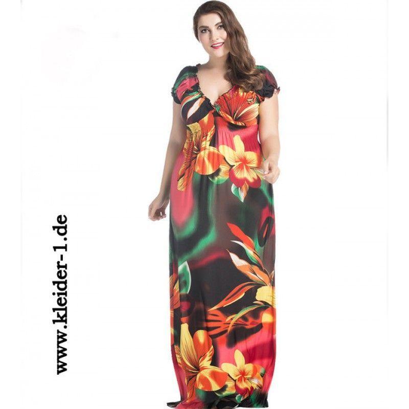 Maxi Sommerkleid für Große Größen | Modestil, Sommerkleid ...