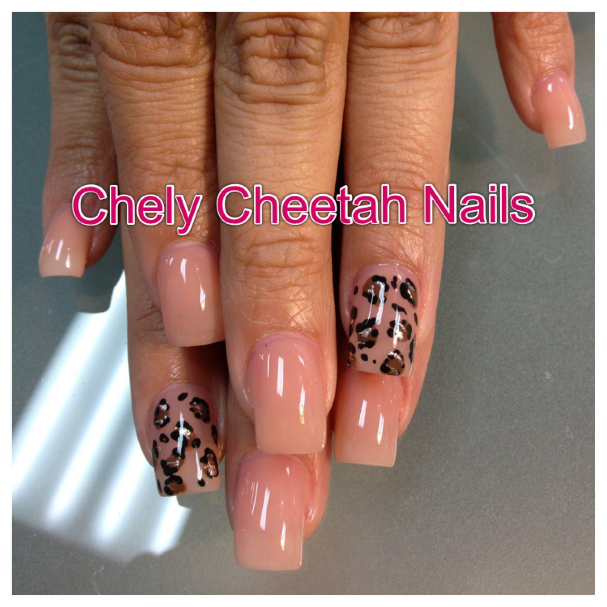 Chely cheetah nails acrylic nails nude cheetah print nail art chely cheetah nails acrylic nails nude cheetah print nail art prinsesfo Image collections