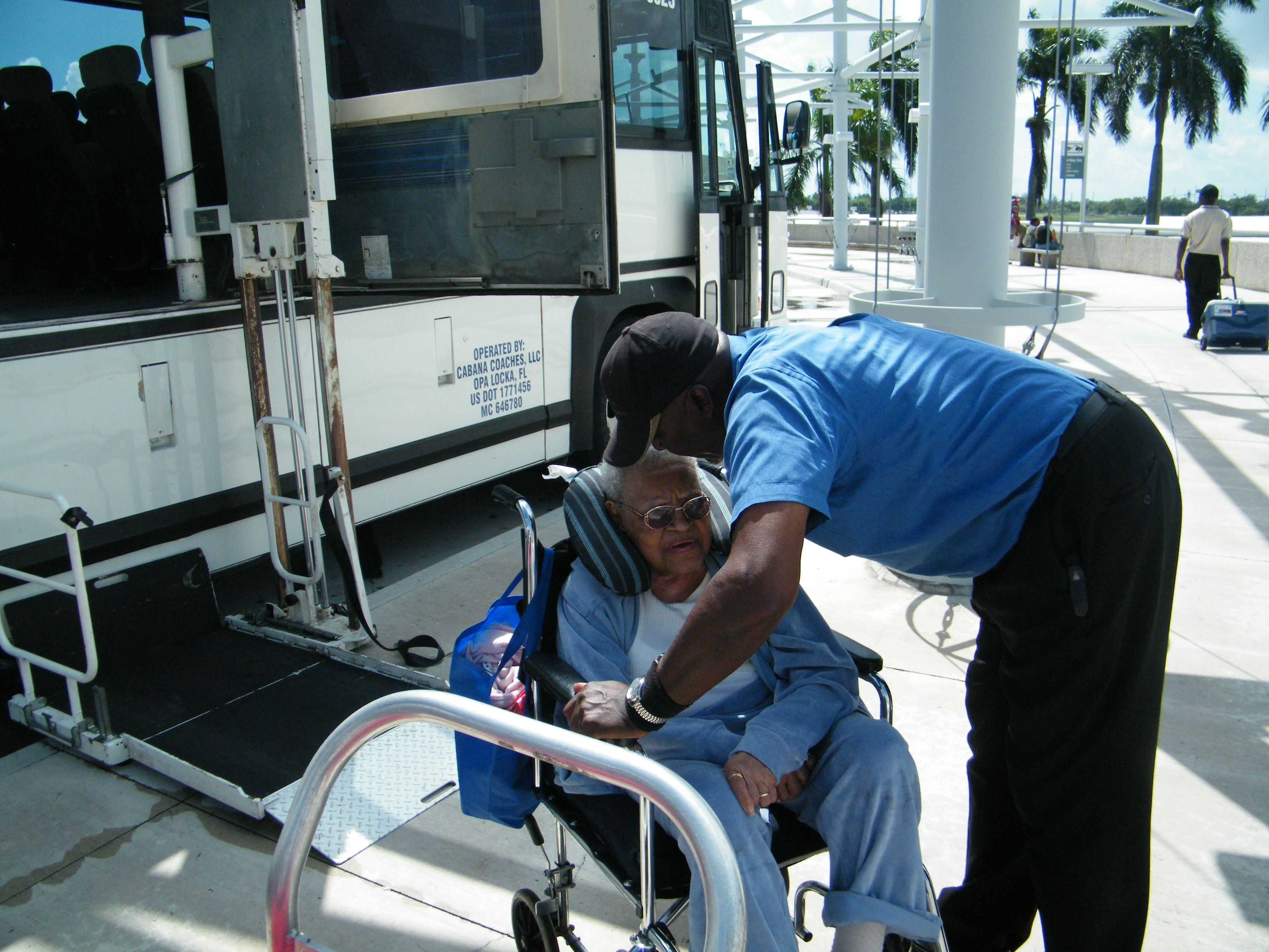 Bus For Transportation To Ship For Special Needs Disable Slow