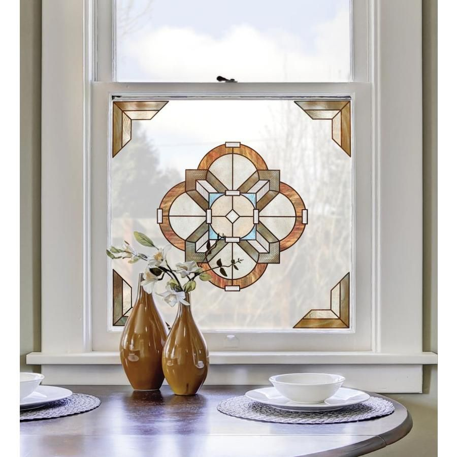 Artscape Newport Amber 12 In X 12 In Textured Textured Privacy Decorative Window Film Lowes Com In 2021 Decorative Window Film Stained Glass Window Film Window Decor
