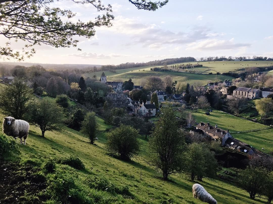 Cotswolds - A scenic spot looking over Naunton with these cuties