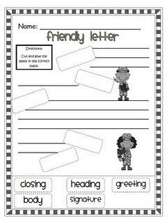 Parts Of A Letter  First Grade    Children Little