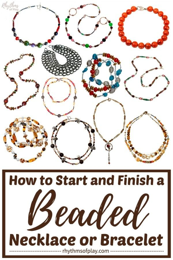 Photo of How to Start and Finish a Beaded Necklace or Bracelet | Rhythms of Play
