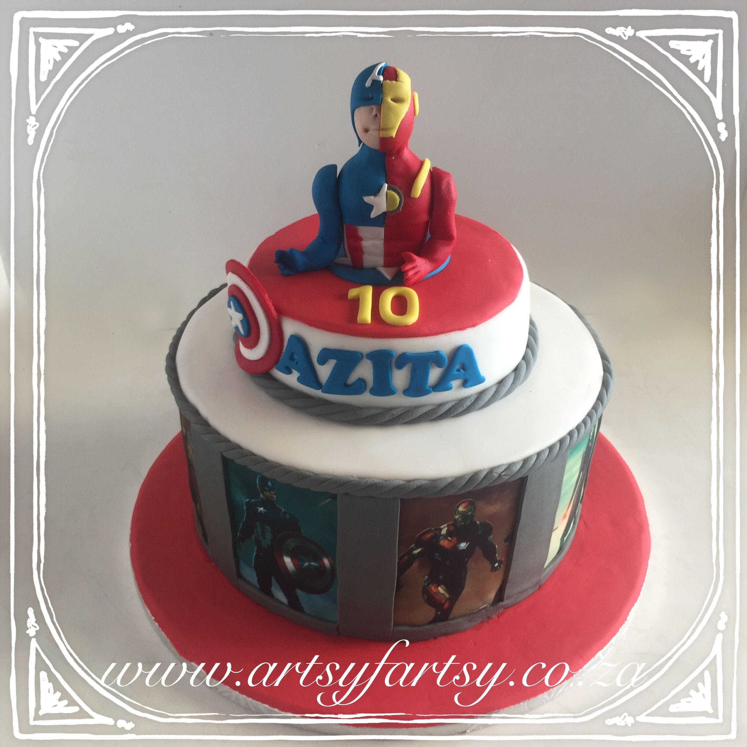 Iron Man and Captain America Civil War Cake ironmancake