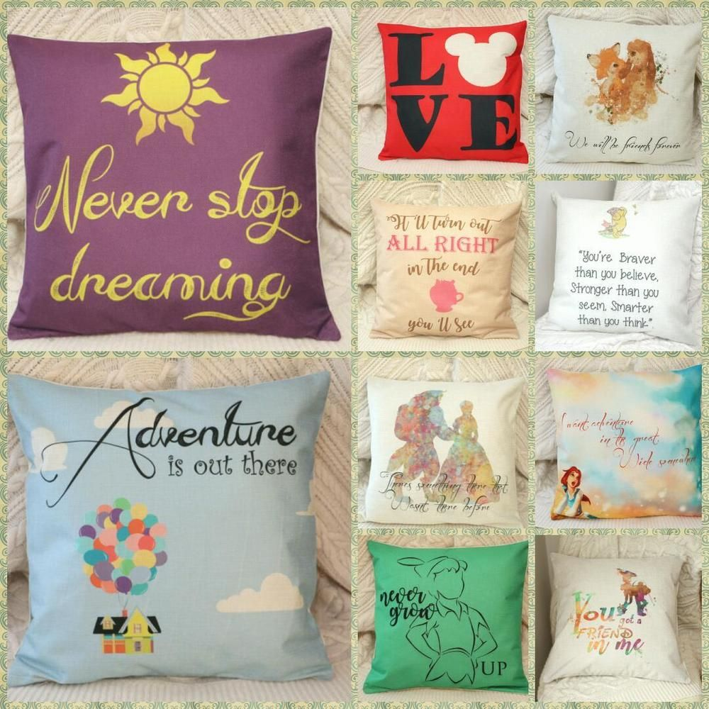 Diy Disney Pillowcase: disney princess villian toy quotes Cushion Cover Pillow Case Home    ,