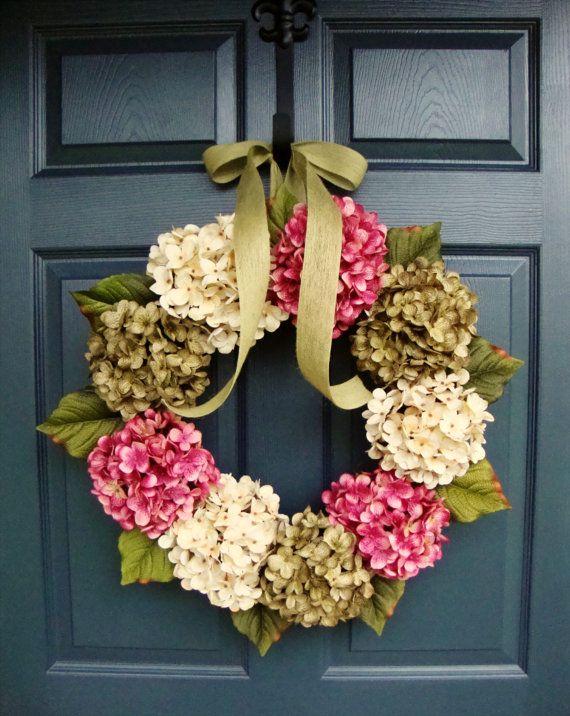 Summer Wreaths | Hydrangea Wreath | Front Door Wreaths | Summer Wreaths For Front  Door | Housewarming Gift | Door Decor