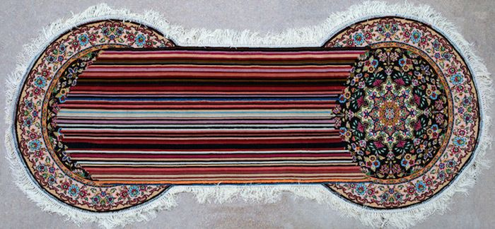 Traditional Azerbaijani Rugs Recreated With Technological Glitches Freeyork Embroidered Art Rugs Traditional Rugs