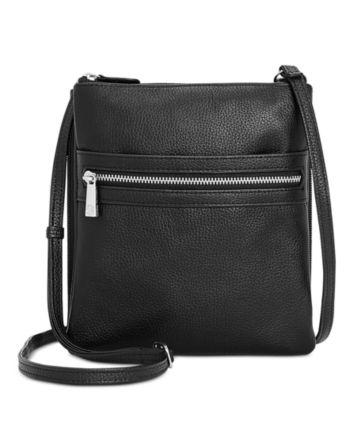 03e83298ad77 Giani Bernini Triple-Zip Pebble Leather Dasher Crossbody