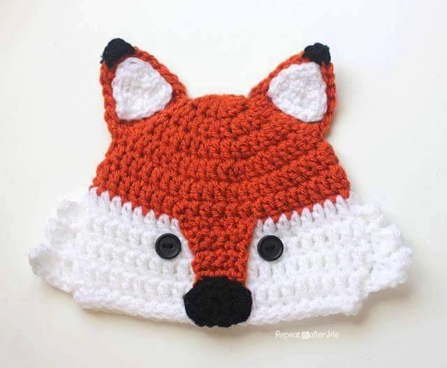 faf05d3af132f Luty Artes Crochet  Pap de touca de raposa Mais