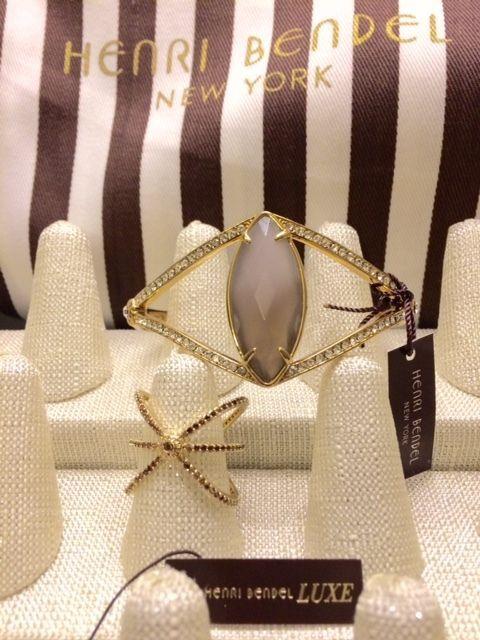 New! HENRI BENDEL New York 2pcs Socialite Bracelet and Luxe Pave Ring  #HENRIBENDEL