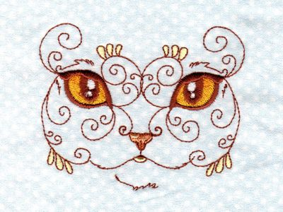 Swirly Cat Faces 2 Machine Embroidery Designs Httpwww