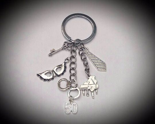 50 Fifty Shades Of Grey Darker Freed Trilogy Film Inspired Keyring Bag Charm ❤️