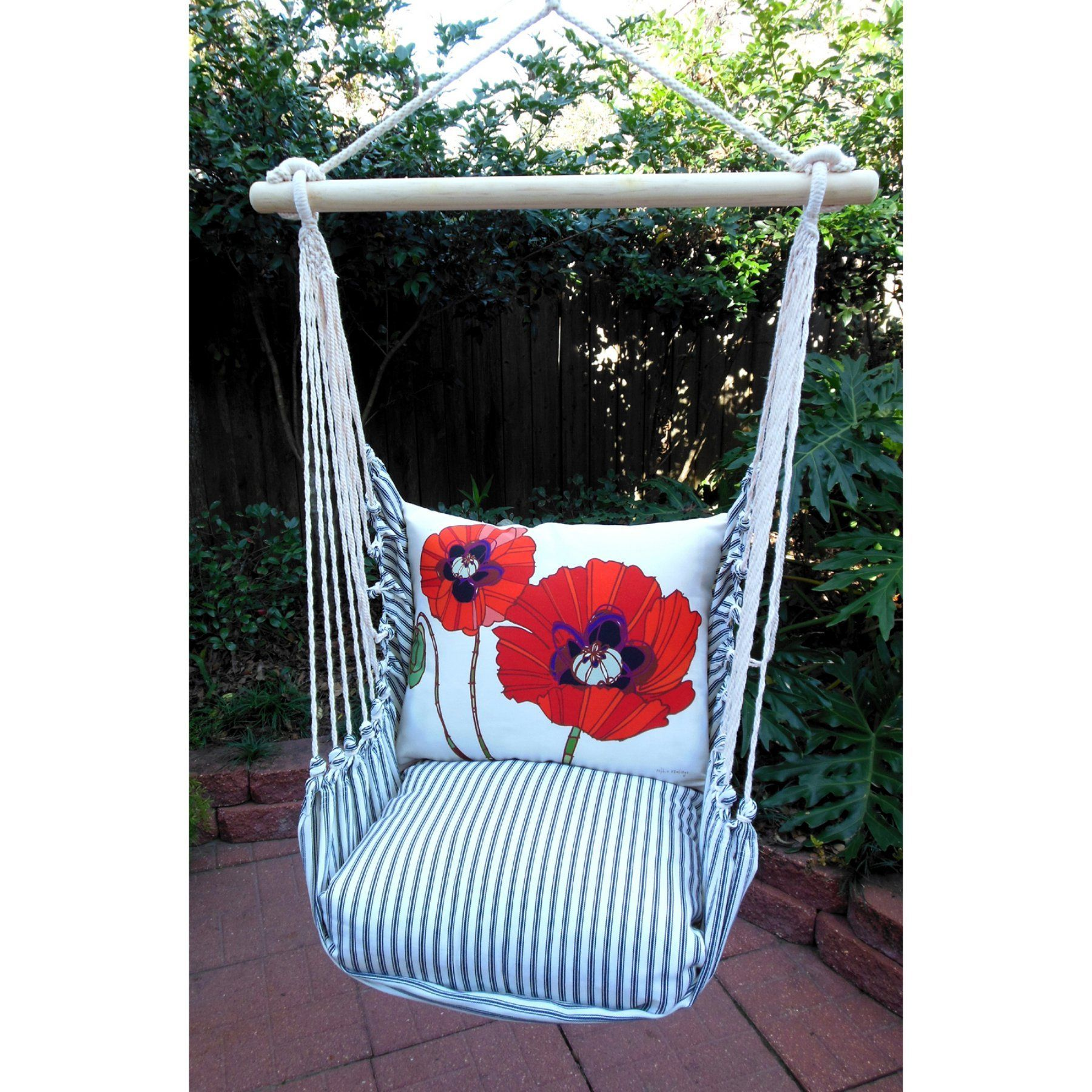 Outdoor magnolia casual flower burst hammock chair u pillow set