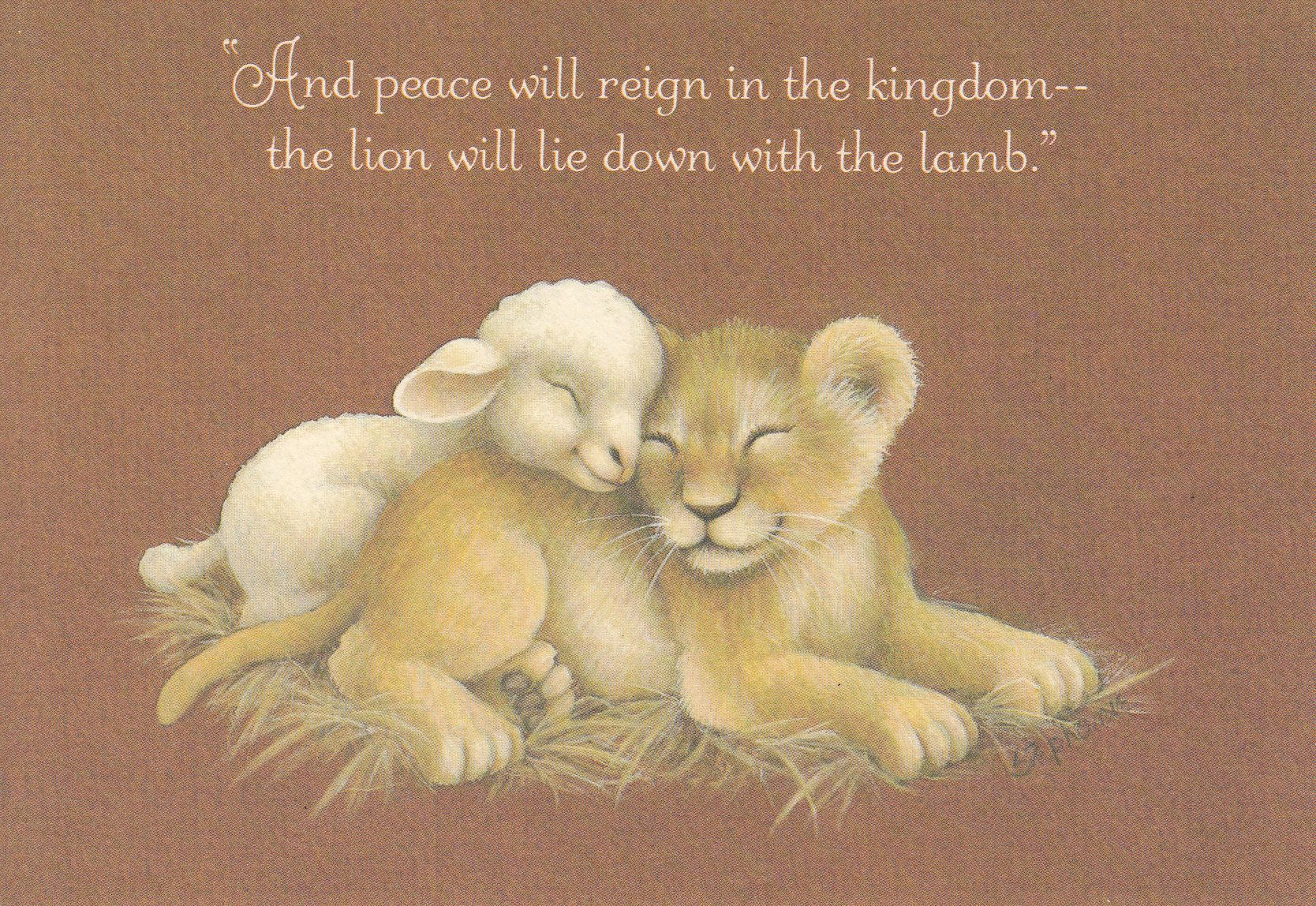 Image By Judy Myers On Lion And Lamb