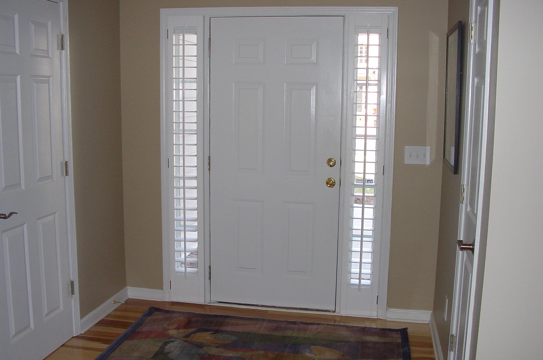 Door Side Window Blinds   Front door window curtains, Front doors ...