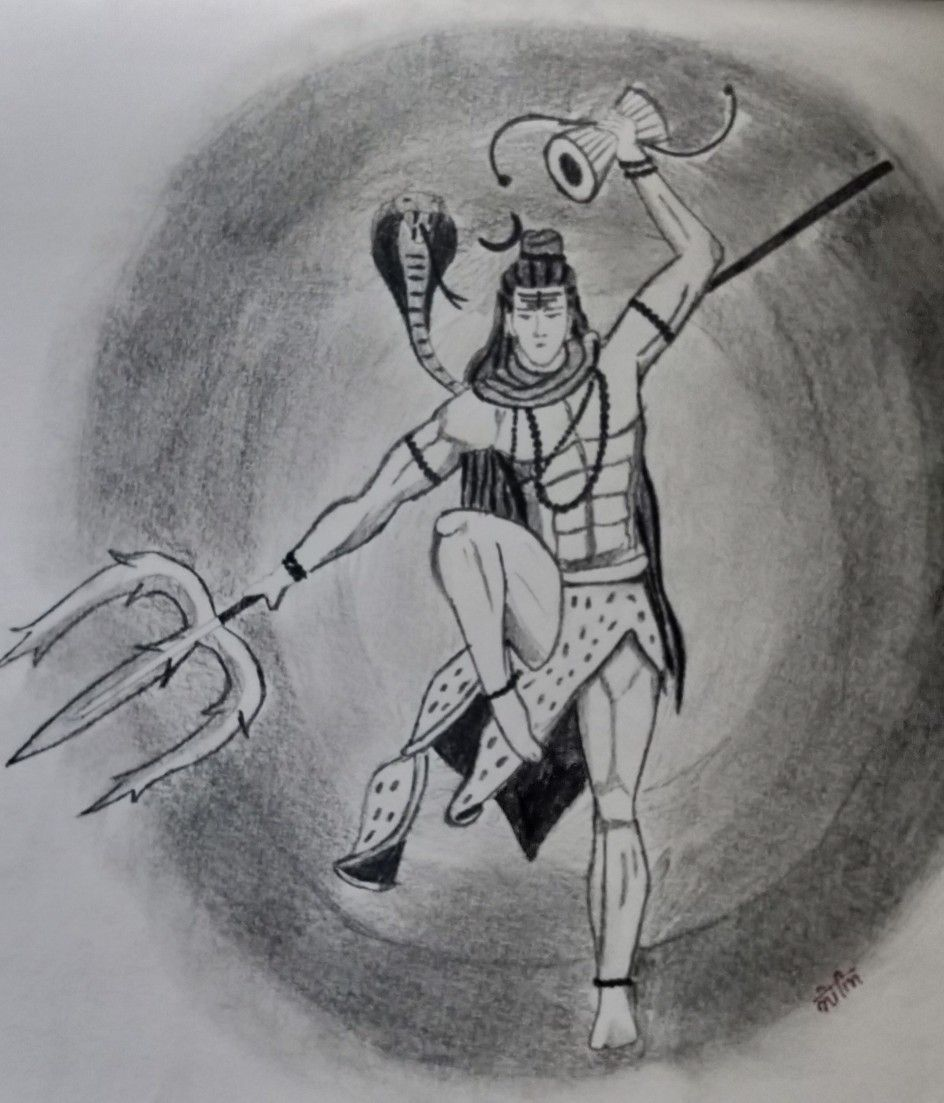 Mahakal shiva drawing in 2019 sketches shiva sketch drawings